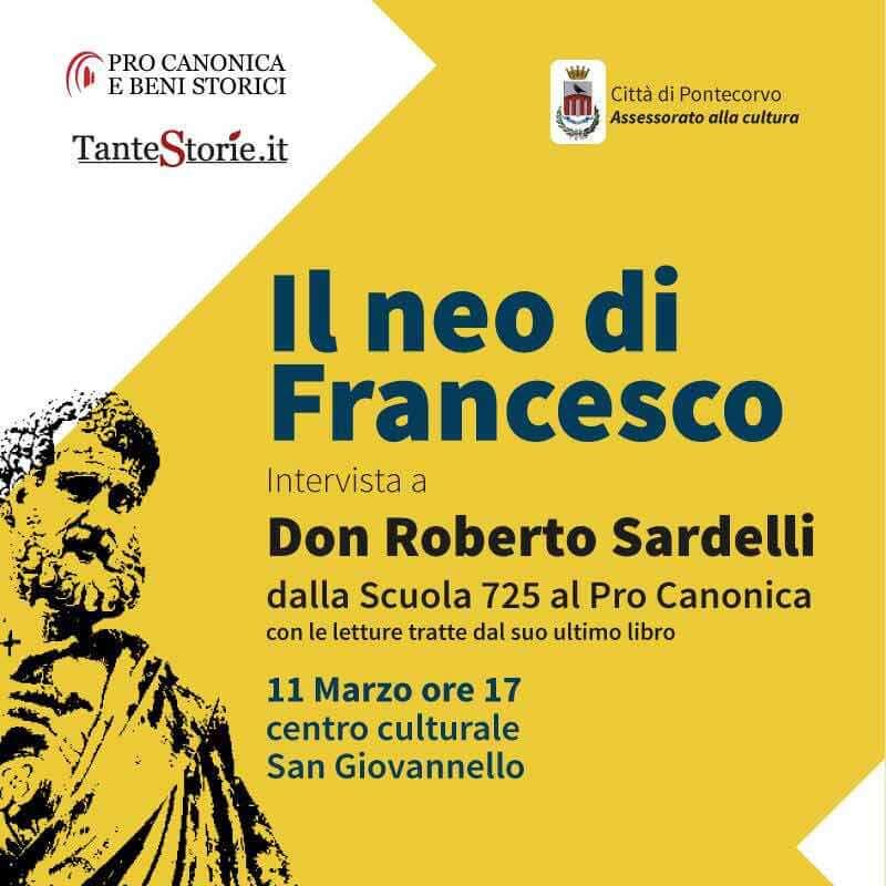 locandina presentazione del libro di don Roberto Sardelli Il neo di Francesco d a Pontecorvo